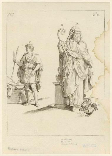 Illustration of Two types of Roman Augurs